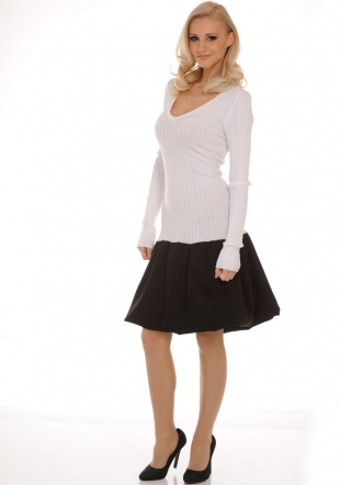 Black and White Dress with Baloon Type Skirt Z-2011/2012