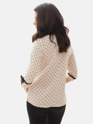 Lady's Blouse in Black Dots 81901