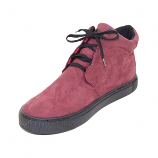 Women's burgundy color leather boots Romika 20586