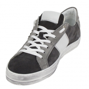 Men's grey suede leather trainers 33704