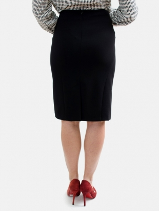 Women's skirt in black with a light set 51803