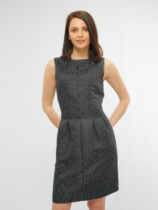 Women's gray dress with ornaments 77346
